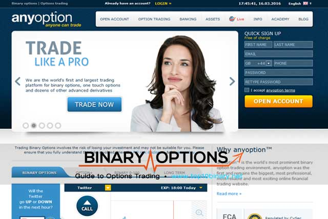 Binary option site reviews